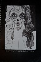 Day Of The Dead Girl, Step 2 by RavensSoulDesigns