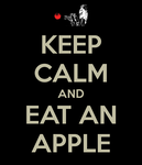 Keep calm and eat an apple by firenight617