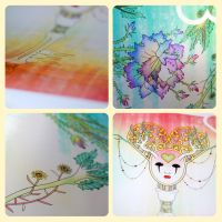 Anthrocemorphia Cards : Metallic Print Details by sophiaazhou
