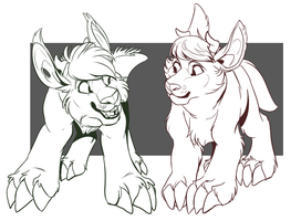 Snaggletooth Buddies : LINES by MrsDrPepper
