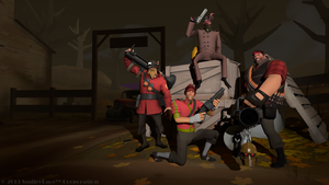 The Four Mercenaries by wango911