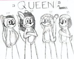 Queen / Queen as Animals by RubenGR98