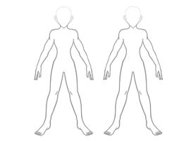 Blank Human Body Outline