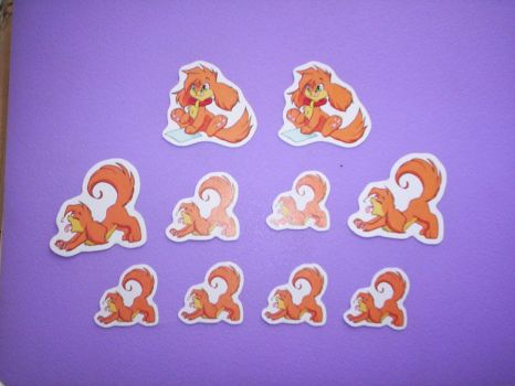 Gecky Stickers X3 by Geckochan