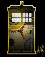 Steampunk TARDIS by spacescapist