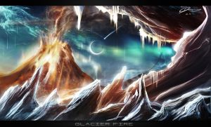 Glacier Fire by GuilleBot
