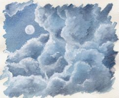 Clouds at night by SilkenCat