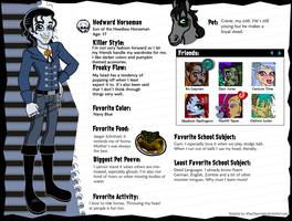 Hedward Horseman Updated Profile by pixiesera