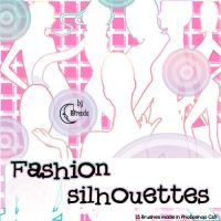 Fashion silhouettes Brushes by Coby17