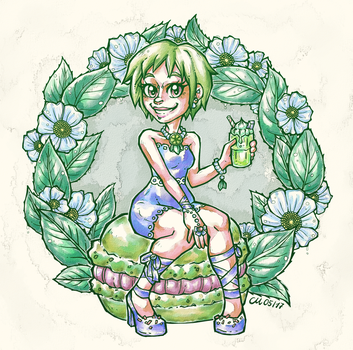 Matcha Latte! *colored* by CaptainMetal