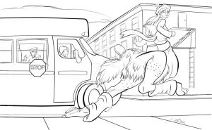 WIP Late for the bus, first to class by jerseycajun