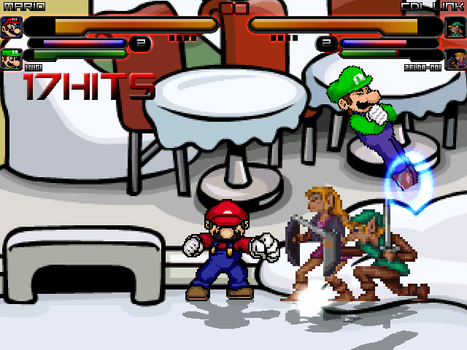 My new Mugen stage: Club Penguin Plaza by Madbootdude