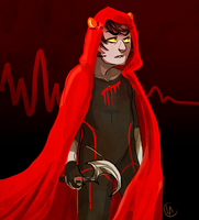 knight of blood redraw by miraliese