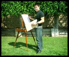 Me with the Easel by MassiveAggressive