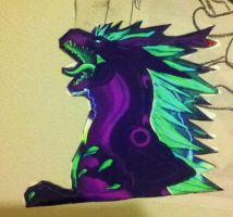 Vortex fridge magnet! by The-Imperial-Dragon