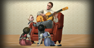 Father, Daughter, Music #1 by PrincessBloodyMary