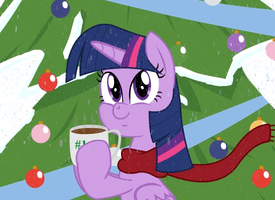 Twilight Sparkle Happy Holidays! by Poison--Hearts