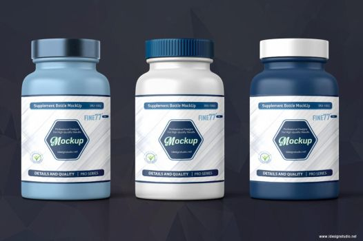 Supplement Bottle Mockup by idesignstudio