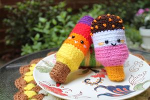 Popsicle Amigurumi food by Amigurumifood