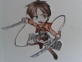 chibi Eren:3 by Exorcist95