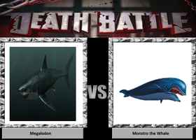 Death Battle 13: Monstro the whale meets Megalodon by TrefRex