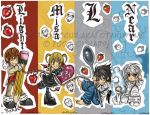 Death Note Chibis- Bookmarks by Otakuyume