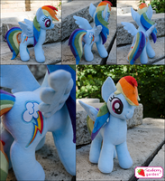 Rainbow Dash plush by SewberryGarden