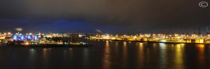 Container Port Hamburg  Night by Bull04