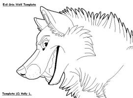 Evil Grin Wolf Template by Hawaiifan