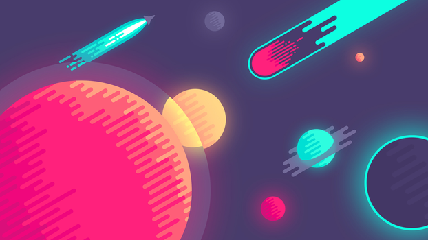 Space Flat Wallpaper by TrumpJunior