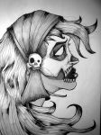 skeleton girl by toxicmask