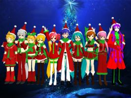 Vocaloid christmas by anshall