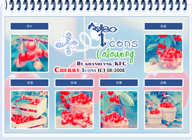 Colouring Cherry Icons by o00khanhlynk00o