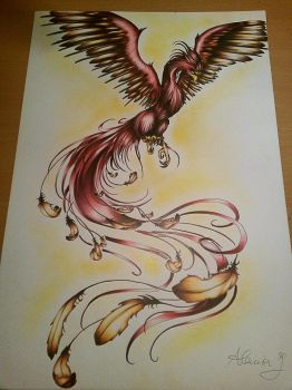 Red Phoenix ( commissioned ) by ColdEver