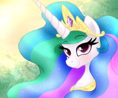 MLP FIM - Princess Celestia Morning Portret by Joakaha