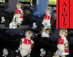 Aigis and Koromaru by PikeInverse
