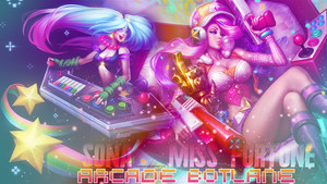 Arcade Sona and Arcade Miss Fortune - wallpaper by KashiRose