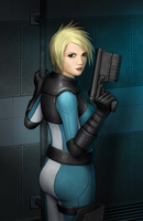Sci-fi Girl with Gun by jdp89
