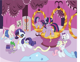Commission: Carousel Boutique Shadowbox Mock-up by The-Paper-Pony