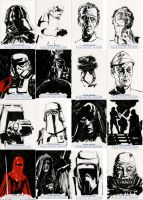 Star Wars Sketch Cards - Galactic Empire by clayrodery