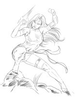 Commission Psylocke - Sketch by ArcosArt