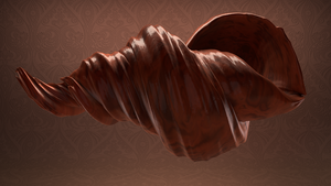 Wooden conch by 3Dapple