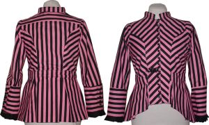 Pink + Black Stripe Jacket by RetroscopeFashions