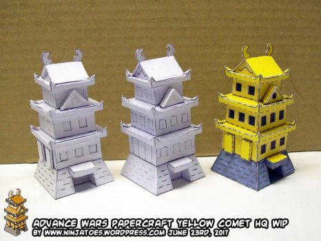 Papercraft Advance Wars HQ WIP by ninjatoespapercraft