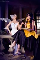 Queen Serenity and Luna by Likanda