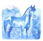 Horse 40 - Blue horse by Paintwick
