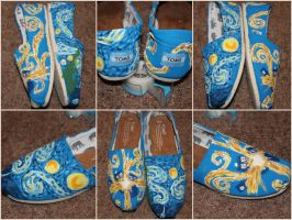 Vincent Van Gogh / Doctor Who Shoes by kenziebaker