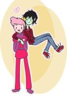 marshall lee and gumball by CherrySnowflake