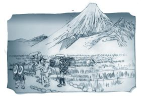 Chinese Childer observe Mount Fuji Early by mr-macd