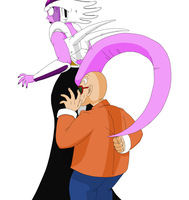 Collab: Queen Ice and Master Roshi by Palinor